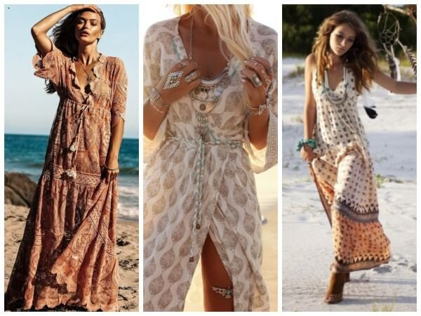 Boho-Style Dress Stylish Beach Outfit Ideas For Women This Summer