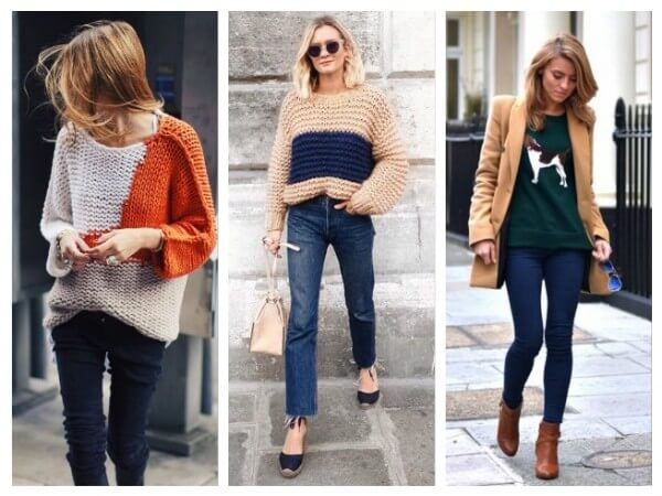 Prints and Color BlockSweater Different Types of Fall/Winter Sweaters for Women