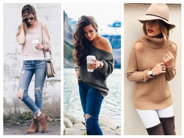 Off Shoulder Sweaters Different Types of Fall/Winter Sweaters for Women