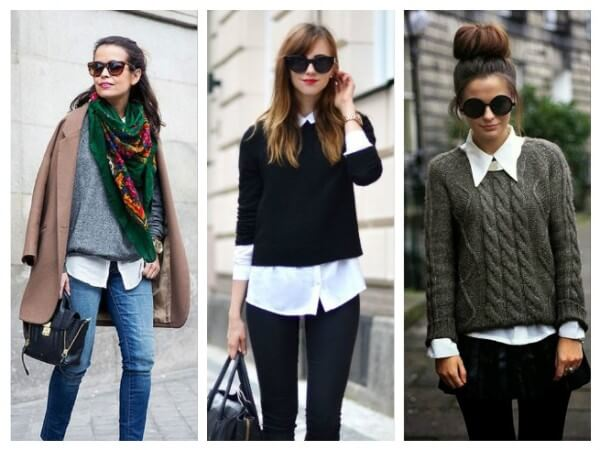 Two in one: Sweater + Blouse Different Types of Fall/Winter Sweaters for Women