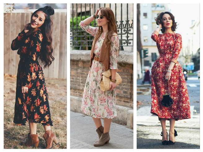 Floral Prints Fall/Winter Outfits Inspiration for Women