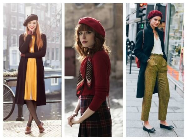 Beret  Ways to Wear a Winter Hat & Scarves for Women
