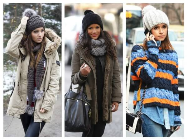 Pompom Hat  Ways to Wear a Winter Hat & Scarves for Women