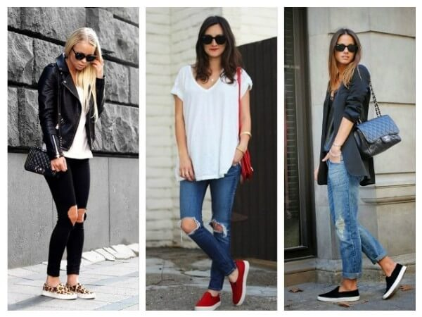 Jeans  Tips to Wear Slip On Shoes for Girls With Different Outfits