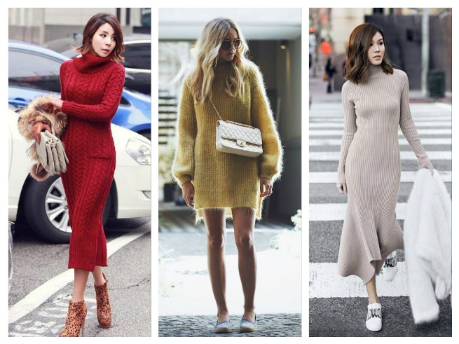 Knitted Dress Fall/Winter Outfits Inspiration for Women