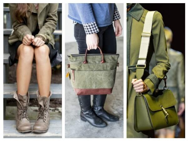 Accessories and Shoes Military Style Fashion Trends for Women