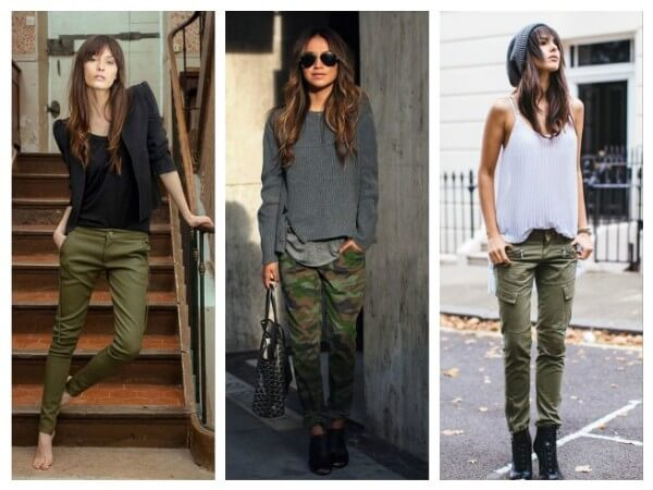 Pants/Trousers Military Style Fashion Trends for Women