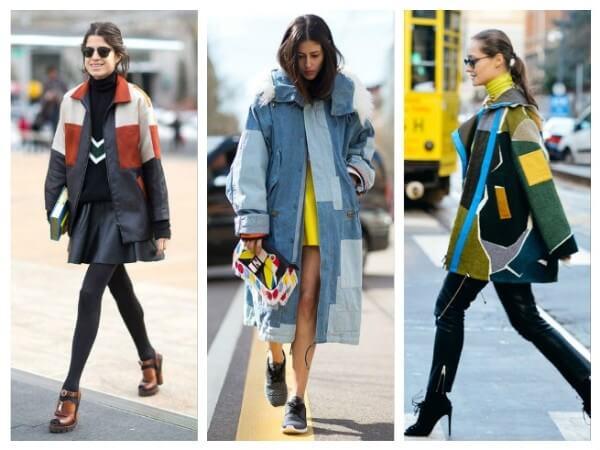 Women's denim & multicolored coat street style trends for fall/winter