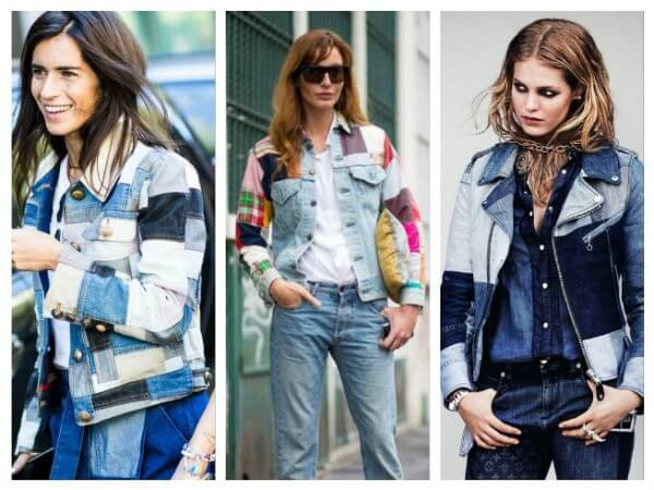 Women's new fashion of patchwork style jeans & jackets