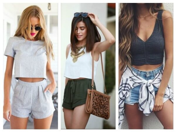 Crop Top with Shorts What To Wear With Crop Top? Your Personal Style Guide