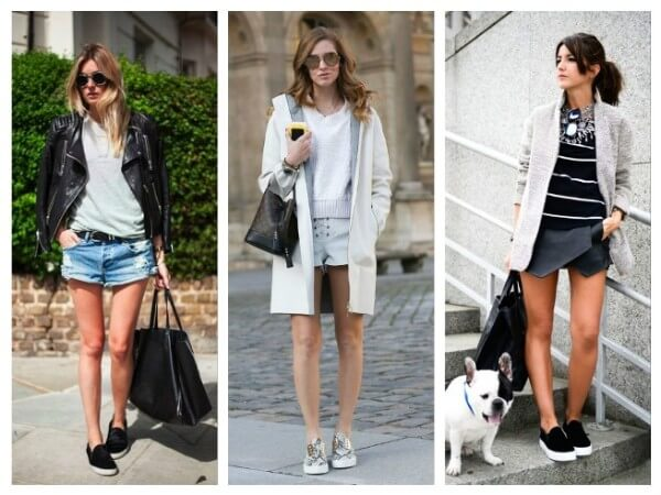Shorts  Tips to Wear Slip On Shoes for Girls With Different Outfits