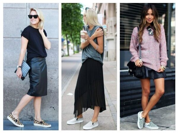 Skirt  Tips to Wear Slip On Shoes for Girls With Different Outfits