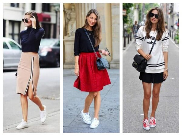 Skirts How To Wear Sneakers Tips for Every Fashion Girl