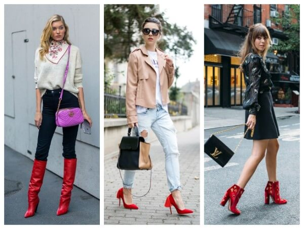 Beautiful combinations to style red boots, fall fashion trends