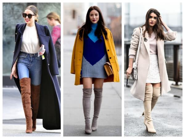 Winter layering, ways to wear over the knee boots or thigh-high boots this fall and winter
