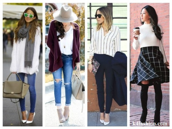 Tops and Cardigan Autumn Wardrobe Basic Essentials for Women