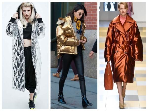 Kendall Jenner's golden puffer & metallic colour long jacket for winter season