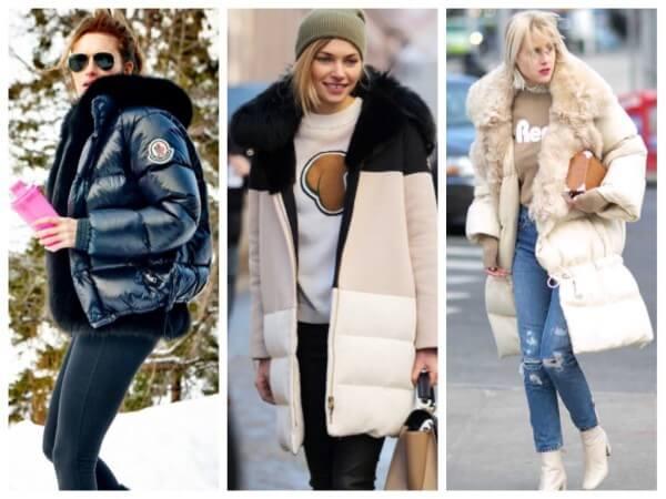 Women's blue, black and cream oversized faux fur coats for fall/winter season