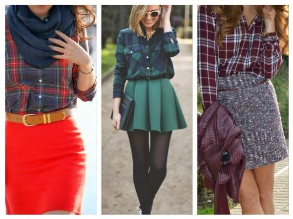 Shirt and Skirt Stylish Ways To Wear Your Check Pattern Shirts