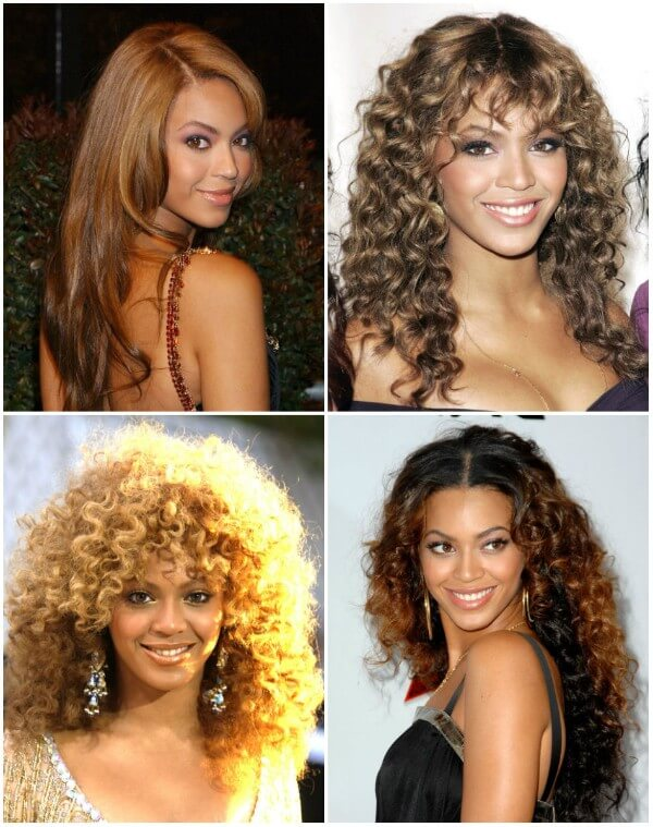 Two tone curly Beyonce's Hairstyles Beyonce's Hairstyles, Hair Cuts & Colors