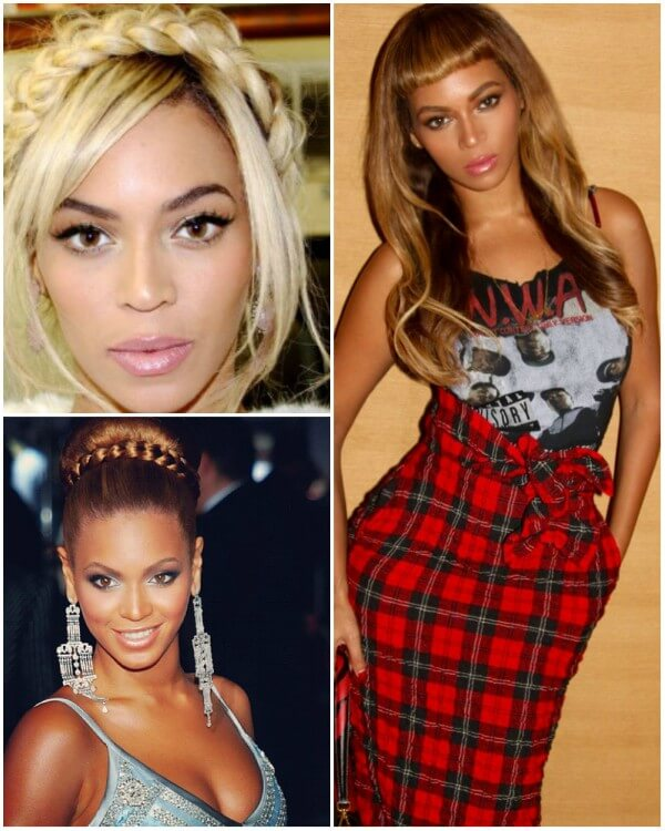 Beyonce short bangs hairstyles