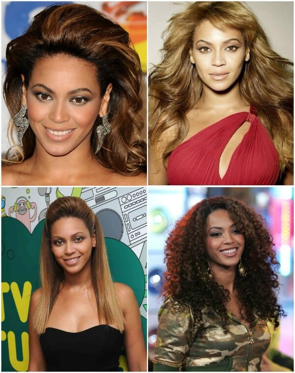 Beyonce gorgeous curls & blonde strands hairstyles Beyonce's Hairstyles, Hair Cuts & Colors