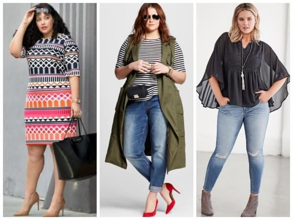 Trendy work outfits and footwear for plus size ladies