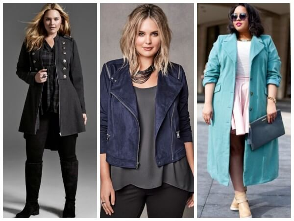Stylish winter, long, medium and short coats for plus size women