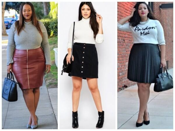 Trendy curvy, plus size skirt fashion & styling