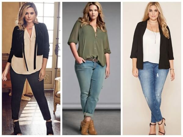 Fashion plus size outfits for the summer, plus size jeans & top style tips