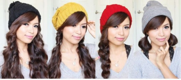 Hairstyles for Winter Hat & Beanie Pretty Hairstyles for Winter Hat & Beanie