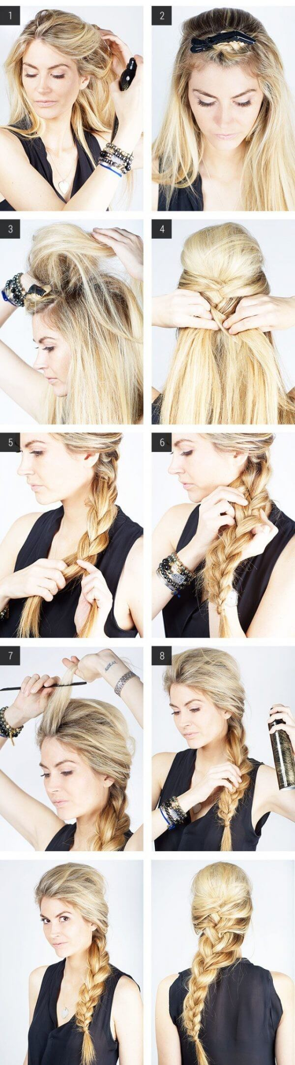 Weave The Braids Step by Step Tutorial Easy Hairstyles for Fine Hairs to Make them Look Thicker