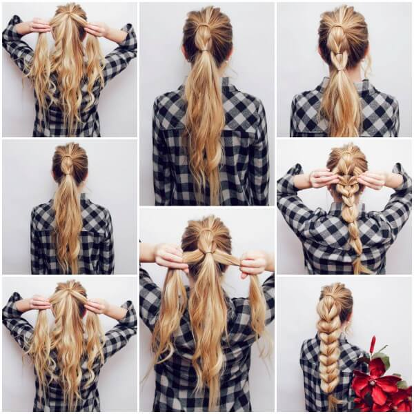 braid hairstyle to make hair look thicker Step by Step Tutorial
