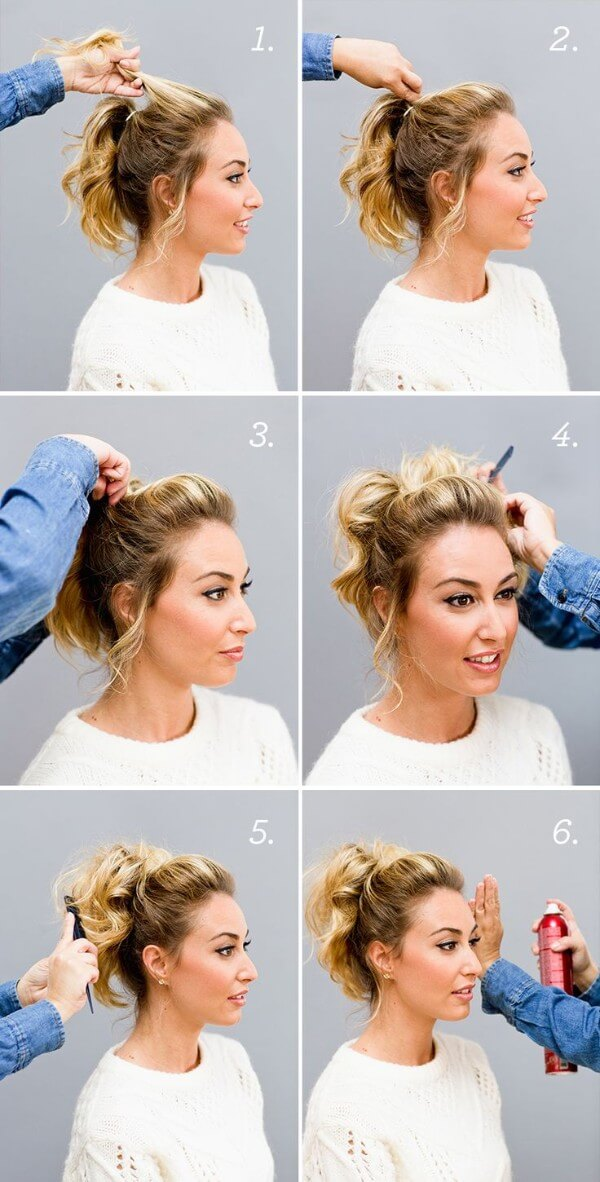 Hairstyles For Fine Hair: Tail hairstyle step by step tutorial Easy Hairstyles for Fine Hairs to Make them Look Thicker