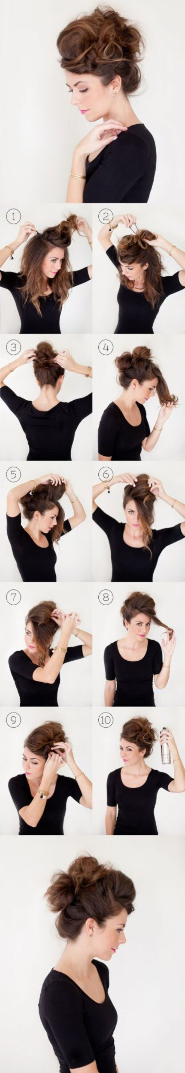 Easy Hairstyles for Fine Hairs Make The Right Buns step by step tutorial