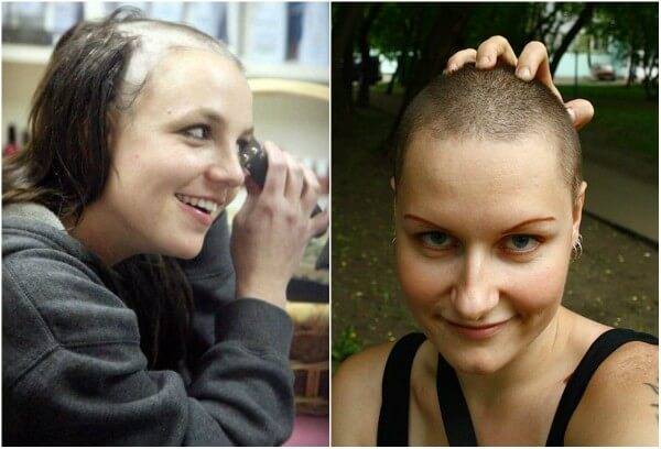 Famous American singer, songwriter, dancer, and actress Britney Spears shaved her head