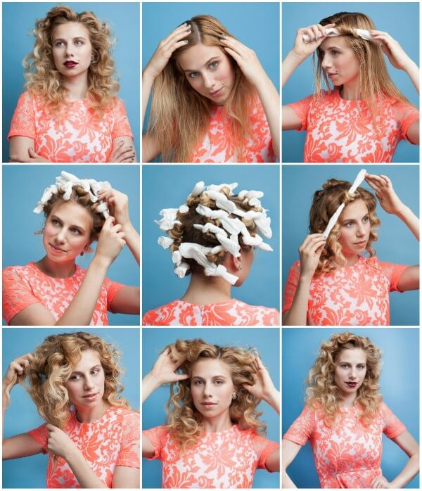 Curl your hair using old t-shirt or waste strips and get natural waves