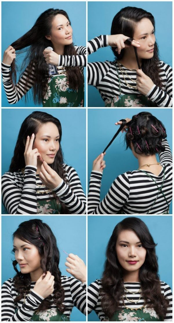 Interesting tricks for creating waves like vintage waves by using hair pins & fingers