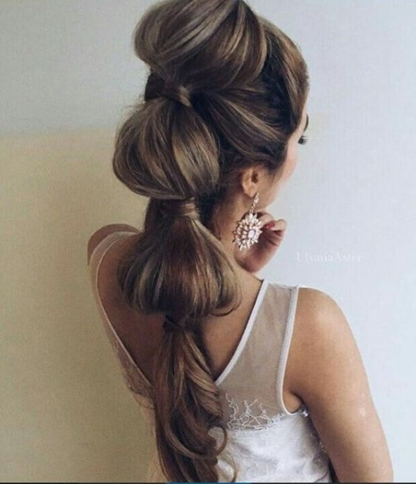 """Loose tail"", Or How To Add Volume Hairstyle, Long Hairs, white dress, wedding, loose hair"
