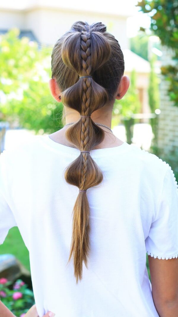 Decorate Your Hair With Easy Weaving, Bubble Hairstyle, tutorial , long hair, easy, step by step