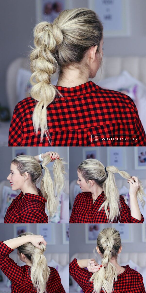 Twist Me Pretty Hairstyle, tutorial , medium hair, wedding, party, easy, step by step, checked shirt
