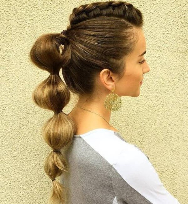 Ponytails braid Hairstyles, long hair, classy, party, Vintage ponytail, Best Braided, Boho