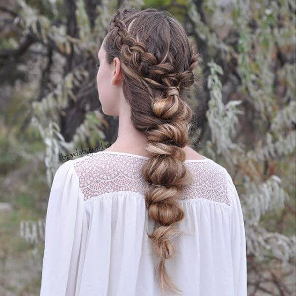 Bubble braids Hairstyle, Haircut, Adorable Braided, long hair, wedding, classy