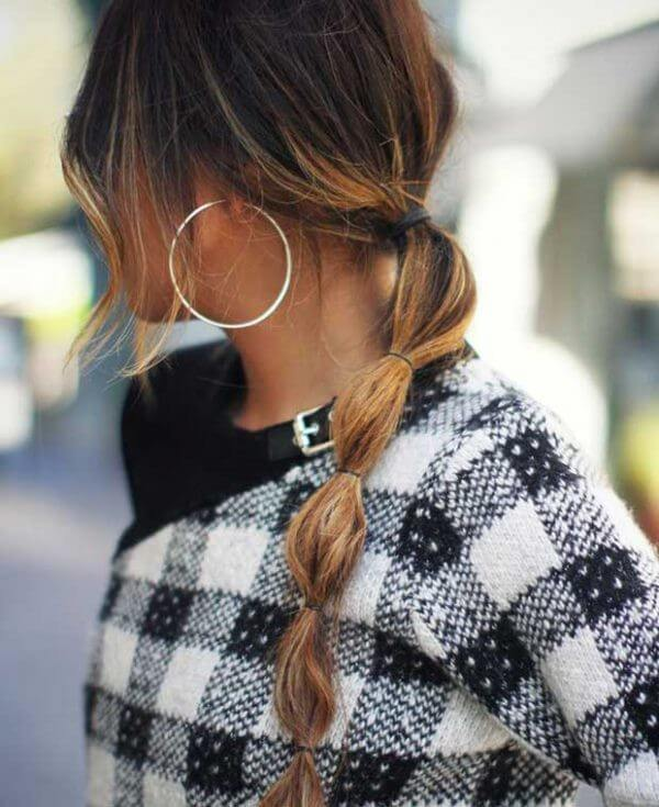 Bubble ponytail hairstyle, Unseen Party , Winter, Ponytails modern, pretty pony