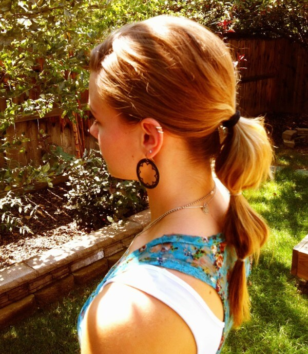 Bubble ponytail hairstyle, Long hair, Summer, Sunshine, everyday