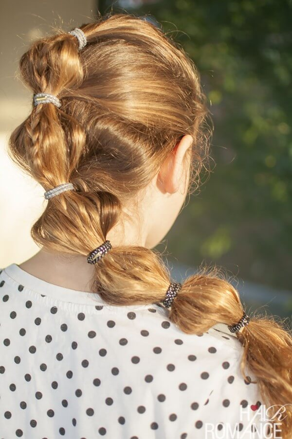 Fashion Dyed Simple Bubble ponytail hairstyle For summer season