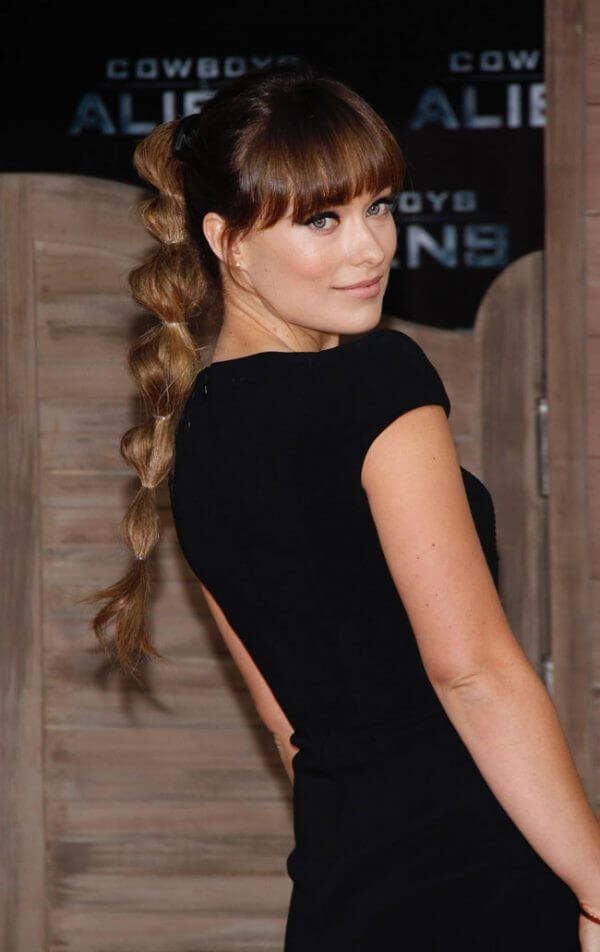Ponytail with rubber bands Hairstyle, black dress, long hairs, easy, classy