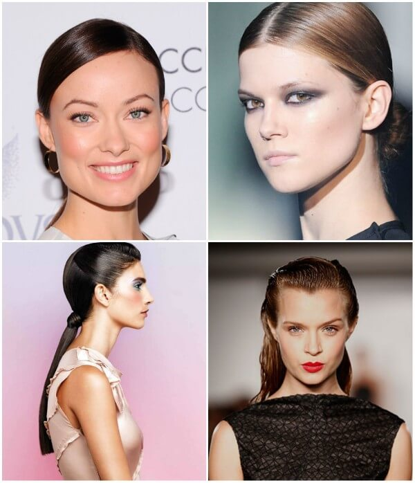 Actress like Olivia Wilde elegant nude makeup with smokey eyes look