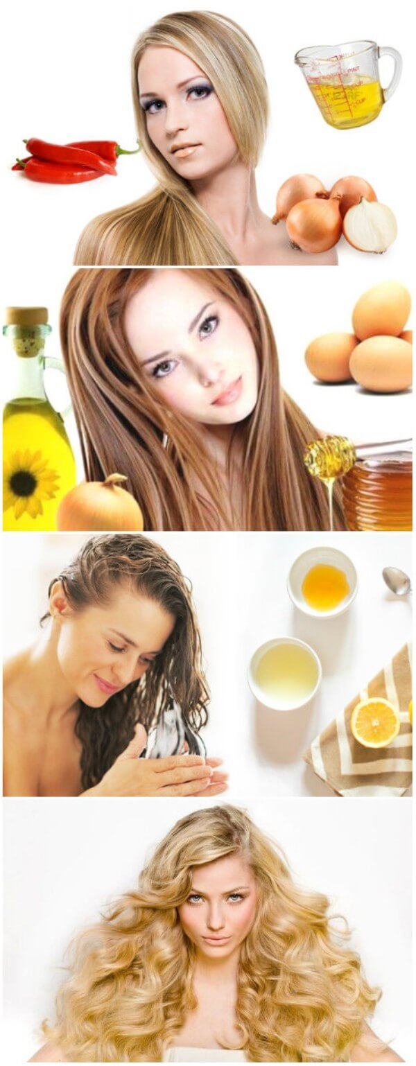 Home remedies like onion, red chilli, eggs, honey, lemon, sunflower oil etc to enhance hair growth for thin hair