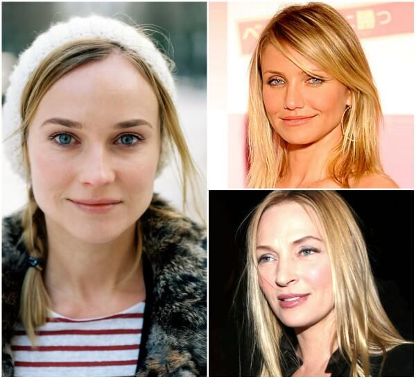 Celebrity Diane Kruger, Cameron Diaz and Uma Thurman inspiring hairstyles for women with fine or thin hairs